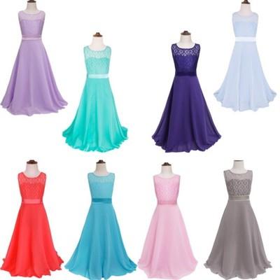 Długa Sukienka Komunia Wesele Chrzest 158 6749005901 Oficjalne