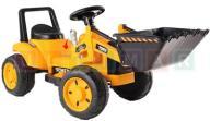 Traktor, spychacz żółty na akumulator !