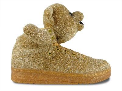 niepokonany x buty na codzień specjalne wyprzedaże BUTY ADIDAS JEREMY SCOTT MISIE ZŁOTE 42 2/3 - 4631146181 ...