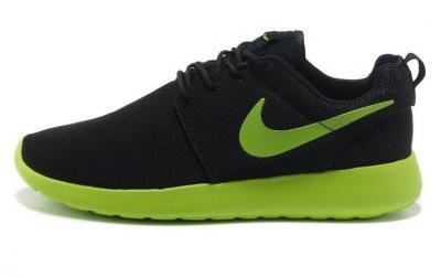 spotykać się różne kolory buty do biegania BUTY NIKE ROSHE RUN CZARNO-ZIELONE 43 - 5070495770 ...