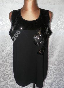 acc6e358cf72 bluzka czarna elegancka cekiny wieczorowa 50 52 - 6157070391 ...