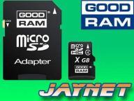 4 GB GOODRAM karta micro SDHC 4GB microSD +a SD FV