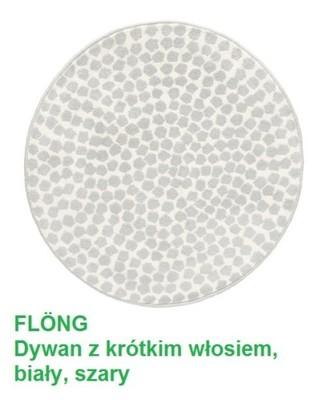 Ikea Flong Dywan Dywanik Okrągły 80 Cm Szary 6514606887