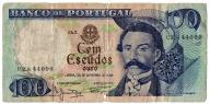 PORTUGALIA  100  Escudos  1965  Obiegowy