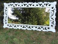Rzeżbione Białe lustro shabby chic prowansalskie