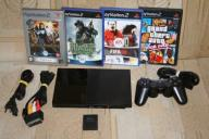 Konsola SONY PlayStation 2 PS2 + GRY + KARTA 64MB