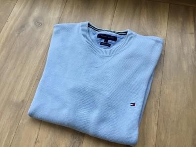 Tommy Hilfiger niebieski sweter męski L