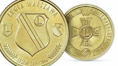 Numizmat Legia Warszawa Moneta Pamiatkowa 6251693417 Oficjalne Archiwum Allegro