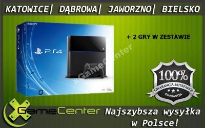 KONSOLA PLAYSTATION 4 500GB + 2 GRY 1 ROK GW @ xGC