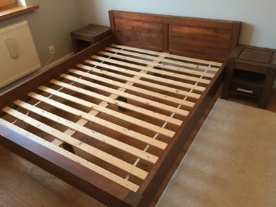 łóżko Drewniane Masywne 2 Szafki Używane Super