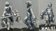 Kalee, human warrioress with living axe WBM