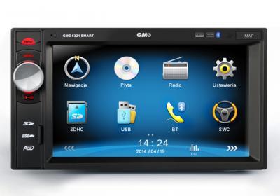 GMS 6321 radio 2DIN Nawigacja GPS USB SD Dotykowe