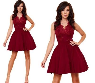 258172b5a2551a Sukienka elegancka rozkloszowana wesele 34,36,38 - 6957864634 ...