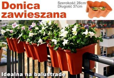 Donica Doniczka Na Balustradę Na Barierkę Balkon