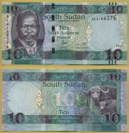 -- SUDAN POŁUDNIOWY 10 POUNDS 2015 AL P12a UNC