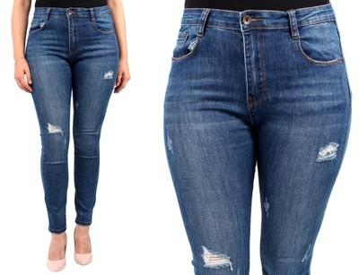 830cbba121 LAULIA DAMSKIE spodnie JEANSY duże rozmiary 46 - 6920159295 ...
