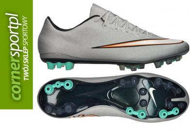 low priced 2ca1b b8949 Buty NIKE Mercurial VAPOR X AG-R CR7 Silver - 42