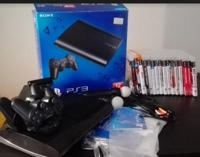 SONY PlayStation 3 PS3 + 2Move + 2pady + EYE