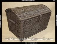 Wenge wiklinowy kosz kufer skrzynia pirat 60 cm
