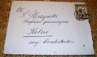 Koperta list Toruń Gimnazjum Kolno Łomża 1947