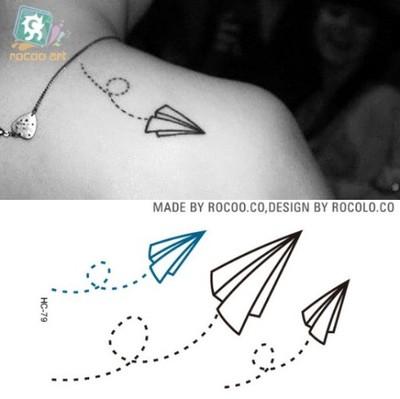 Tatuaże Zmywalne Papierowe Samoloty Tatuaż Woda