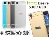 ETUI ALU BUMPER HTC DESIRE 530 630 SZKŁO HARTOWANE
