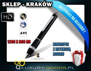 DŁUGOPIS KAMERA DETEKCJA RUCHU 1280x960 USB 24H