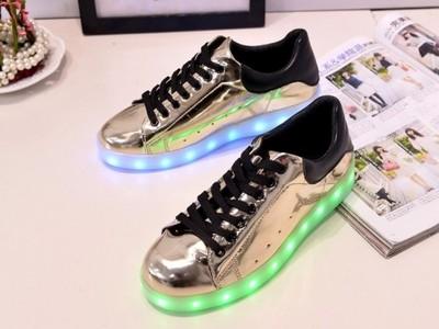 świecące buty led podświetlane adidasy superstar