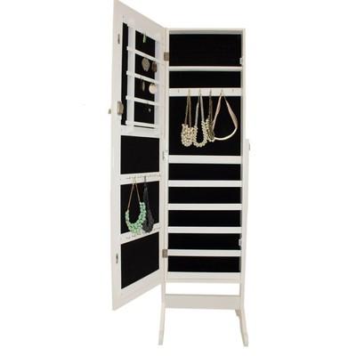 Cudowna Lustro stojące toaletka szafka biżuterię biała - 6625060343 GW25