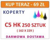 KOPERTY C5 HK 250 SZT Z NADRUKIEM I INNE DL C6 C4