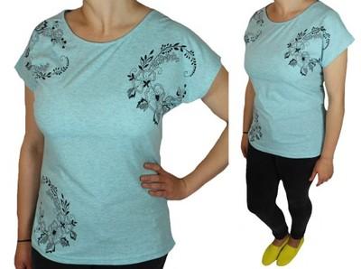 e978469063bdf Bawełniane T-shirty bluzki koszulki damskie 3XL - 6847644563 ...