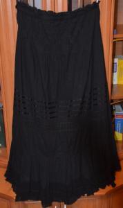 Spódnica długa czarna gotycka w napisy wzory goth