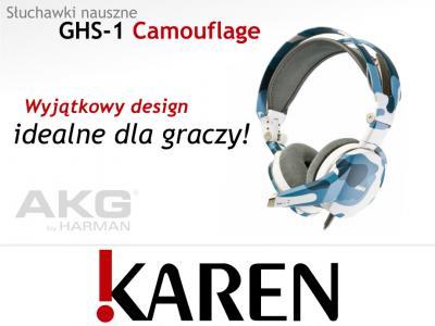 OKAZJA Słuchawki z mikrofonem AKG GHS-1 Camouflage