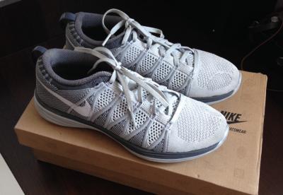 Archiwalne: Szare buty Nike Flyknit Lunar 2, rozmiar 41