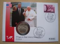 Papież Jan Paweł II USA koperta