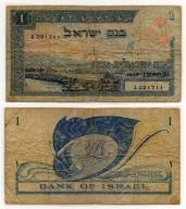 IZRAEL 1955 1 LIRA RZADKI LAMINOWANY
