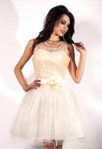 73ecc76f5d 34(XS) kremowy sukienka mini krótka PW-1406 - 5039016027 - oficjalne ...