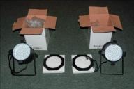 Reflektory LED PAR 64 186x RGBW + sterownik RGBW4C