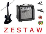 GITARA ELEKTRYCZNA 3/4 + WZMACNIACZ - EXTRA ZESTAW