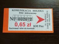 bilet u99 Pisz
