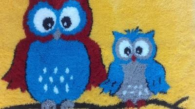 GRUND dywanik dziecięcy SOWY rozm.60/98 idealny