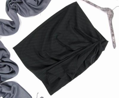 NEW LOOK_czarna drapowana spódnica ołówkowa 36