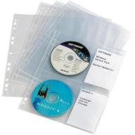 10x koszulka na 4 CD/DVD do segregatora Durable