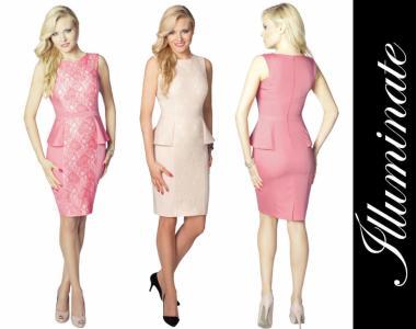 !Sukienka z baskinką S na wesele (XS-XL)Illuminate