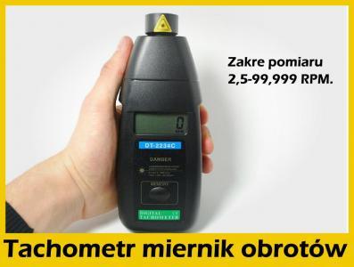 Miernik obrotów optyczny laserowy TACHOMETR ręczny