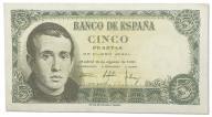 11.Hiszpania, 5 Peset 1951, P.140.a, St.3+