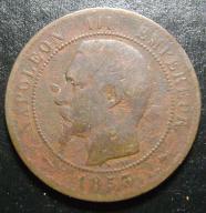 10 centimes 1853 BB Napoleon III FRANCJA