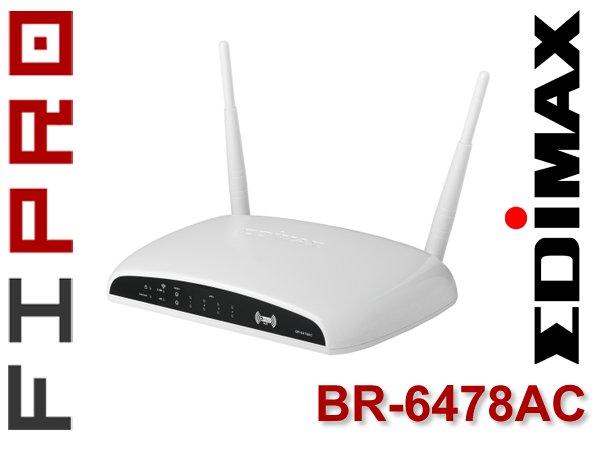 Edimax BR-6478AC Router WiFi-AC1200 DualBand Giga