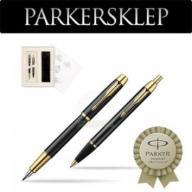 Zestaw Parker pióro + długopis IM Czarny GT 105K