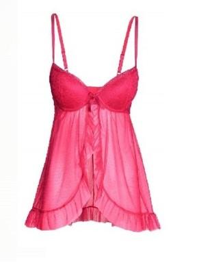 1be9d709a H&M koszula nocna różowa koronkowa sexy 42 XL - 6832103094 ...